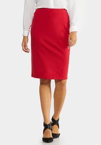 Ponte Pull-On Pencil Skirt