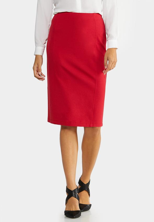 Plus Size Ponte Pull- On Pencil Skirt Skirts Cato Fashions