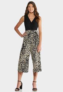Plus Size Leopard Print Jumpsuit