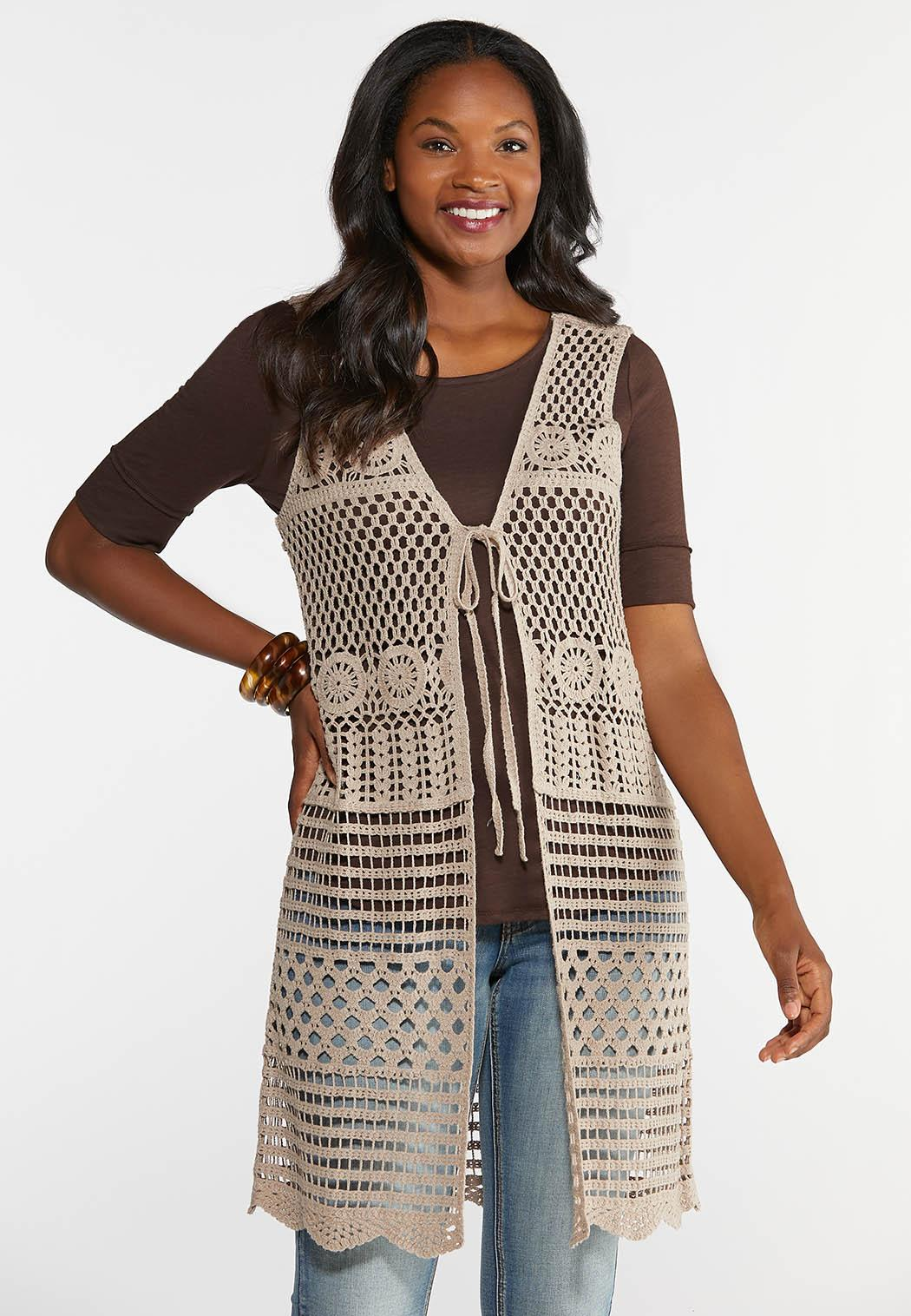 Medallion Crochet Vest
