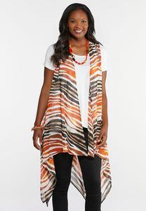 Sheer Tiger Print Vest