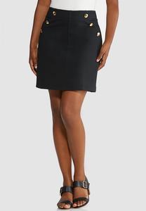 Sailor Button Ponte Skirt