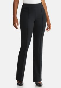 Petite Pintuck Straight Leg Pants
