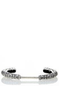Textured Scroll Cuff Bracelet