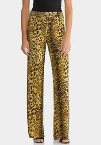Leopard Drawstring Pants