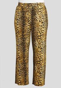 Plus Size Leopard Drawstring Pants