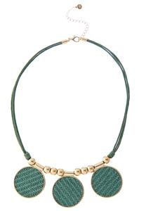 Triple Woven Disc Necklace