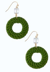 Raffia Glass Bead Earrings