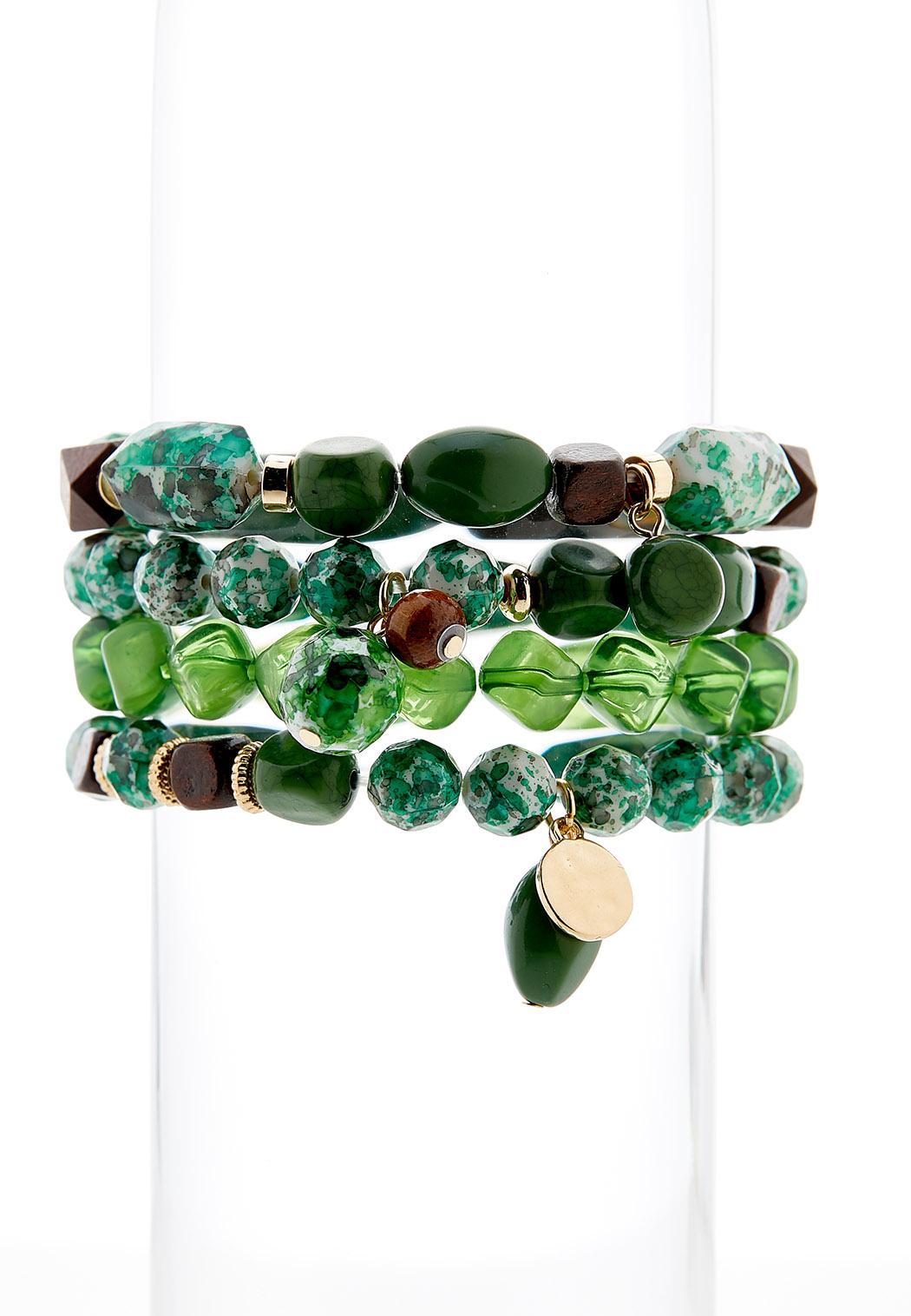 Multi Bead Stretch Bracelet