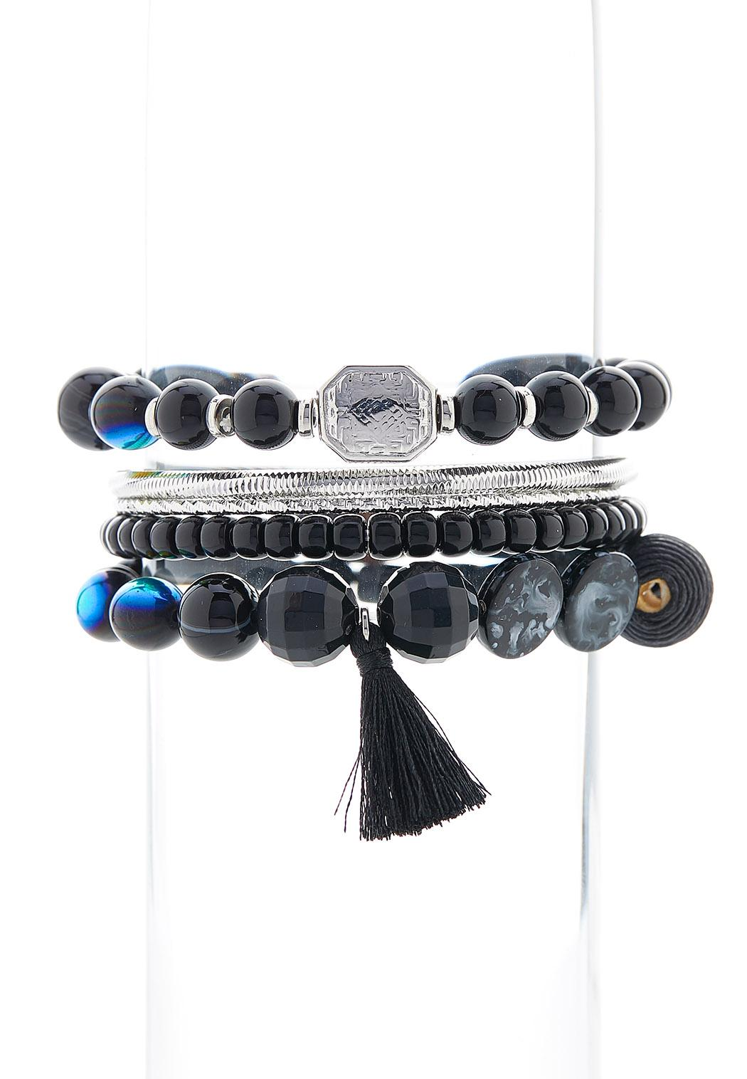 Bead And Bangle Bracelet Set