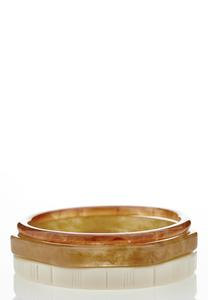 Resin Bangle Bracelet Set