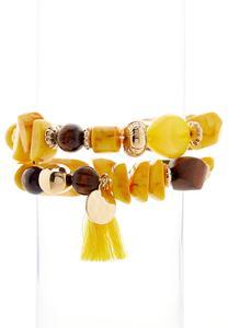 Tasseled Stretch Bracelet Set