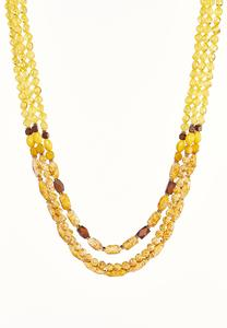 Triple Layered Bead Necklace