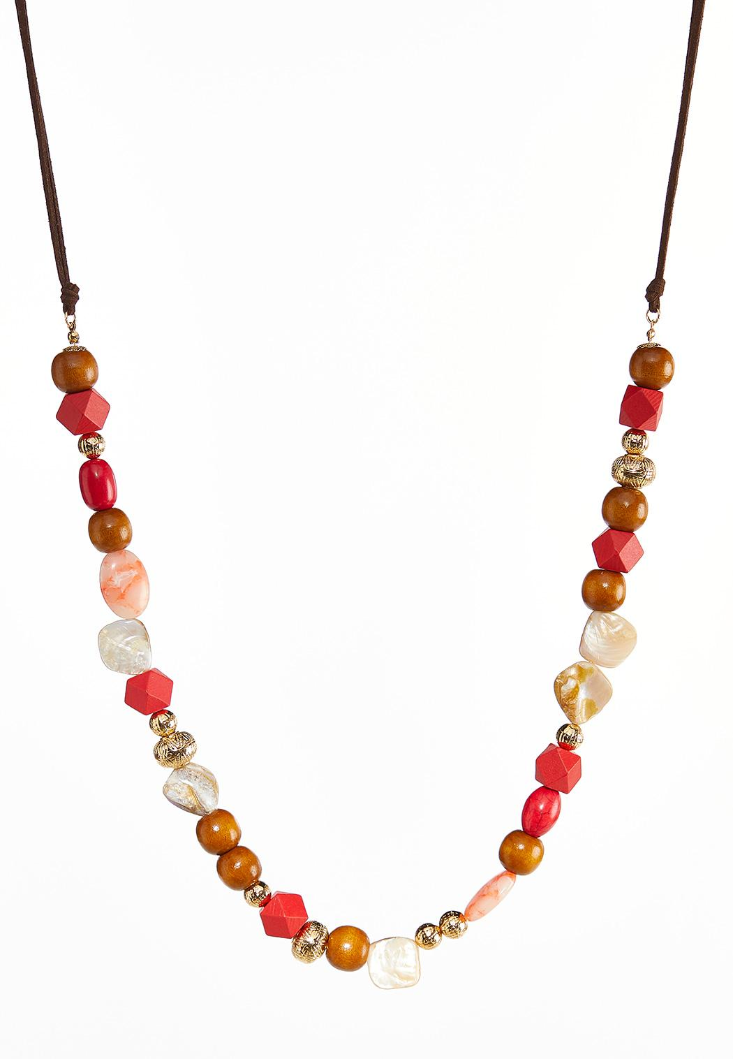 Mixed Bead Cord Necklace