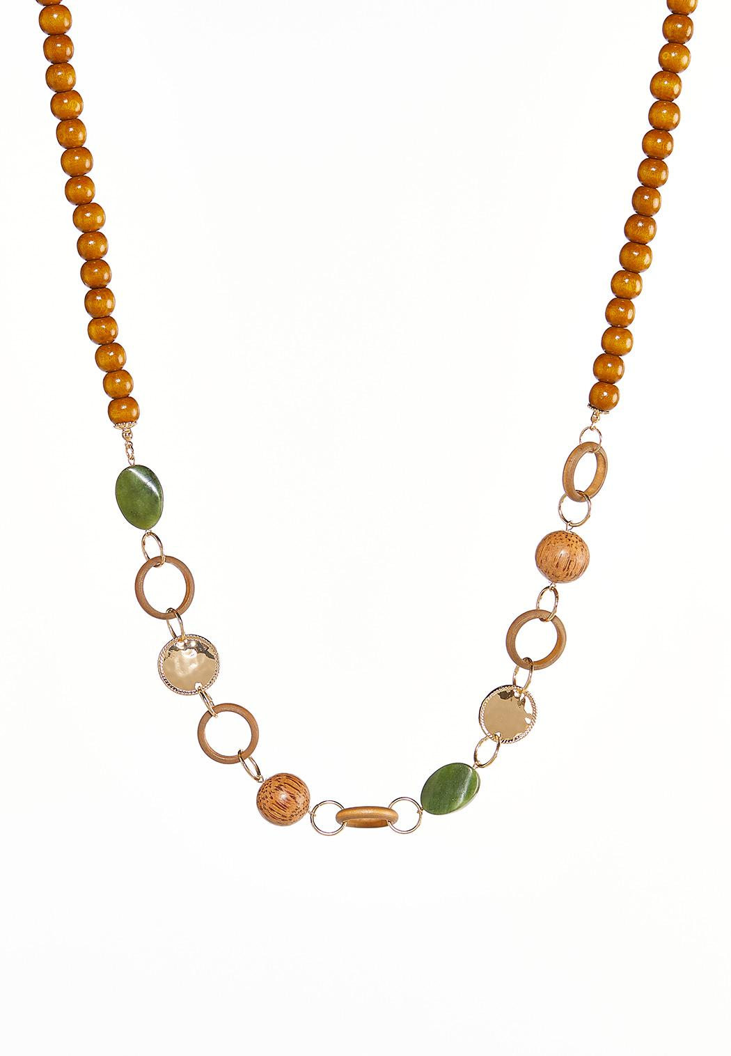 Linked Mixed Bead Necklace