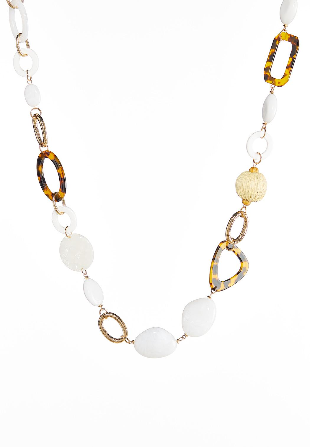 Long Lucite Link Necklace