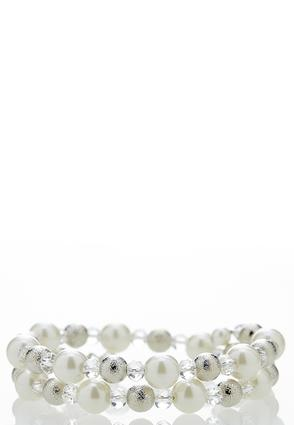 Coiled Pearl Bracelet