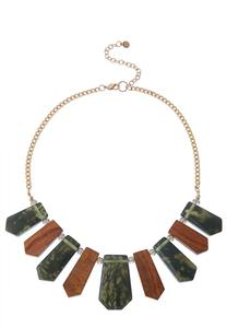 Tribal Resin Bib Necklace