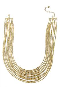 Layered Vintage Gold Necklace
