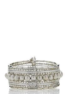 Silver Bead Cuff Bracelet