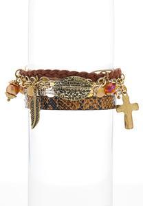 Charmed Mixed Material Bracelet Set