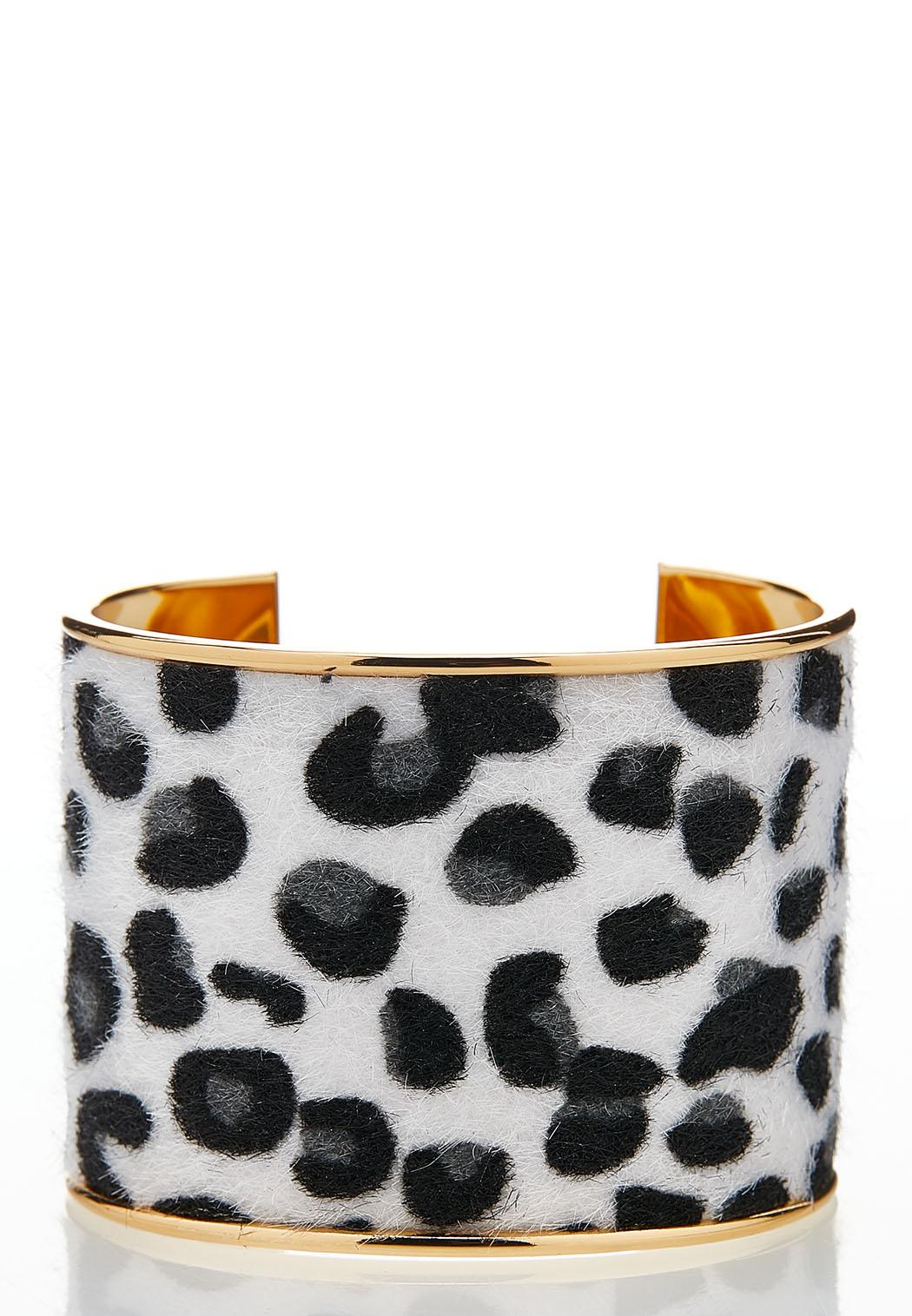 Modern Leopard Cuff Bracelet