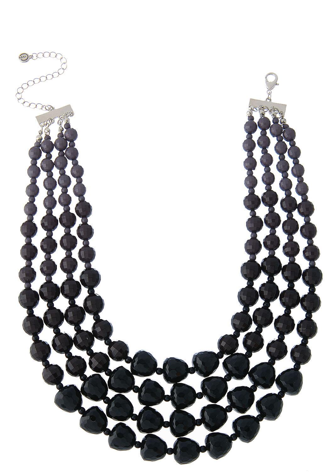 Beaded Multi Row Necklace