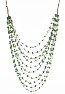 Beaded Cord Layered Necklace