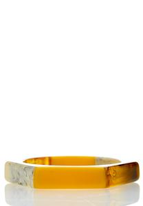 Gold Resin Bangle Bracelet