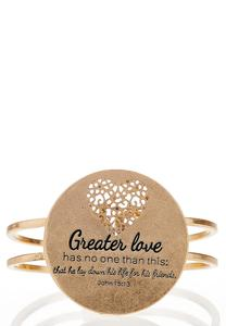 Greater Love Hinge Bracelet