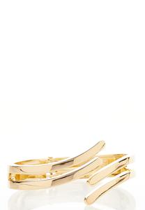 Gold Swish Cuff Bracelet