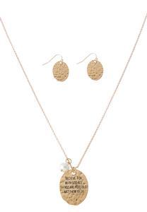 Believe Pendant Necklace Set