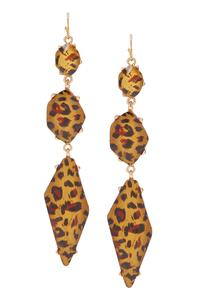 Animal Pattern Linear Earrings