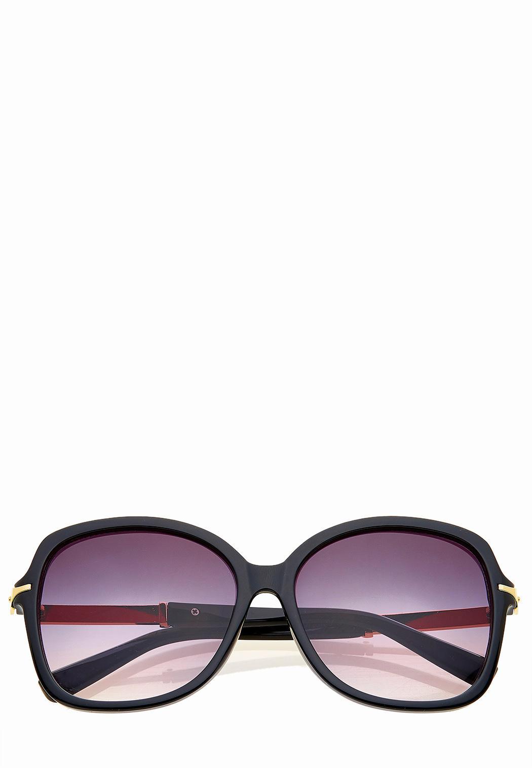 Gold Plate Square Sunglasses