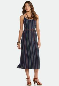Zig-Zag Stripe Slip Dress
