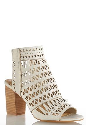 Laser Cut Block Heel Shooties