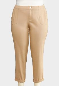 Plus Size Utility Chino Pants