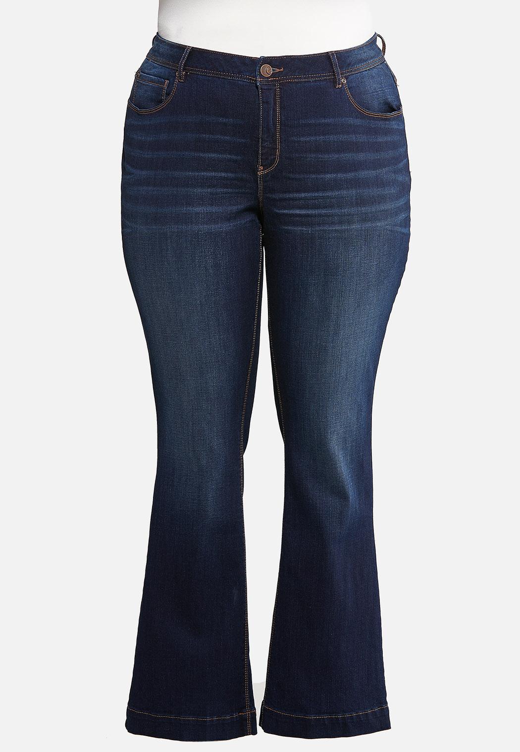 Plus Size Dark Bootcut Jeans