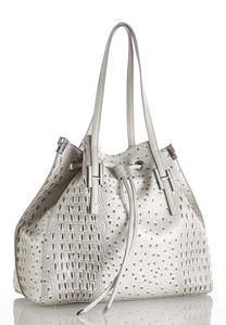 Ostrich Drawstring Tote