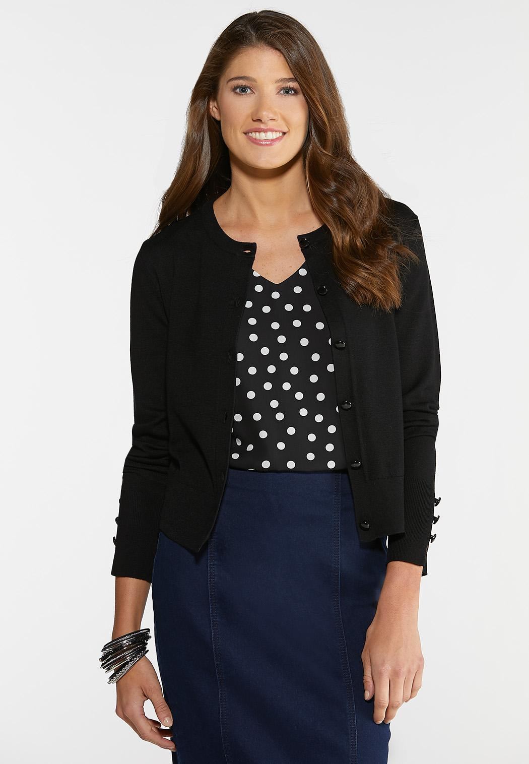 Plus Size Button Front Cardigan Sweater