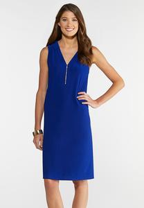 075bec9a213 Plus Size Zip Front Swing Dress