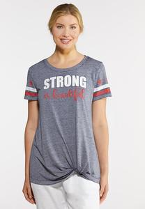 Plus Size Strong and Beautiful Tee