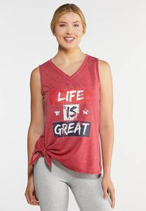 Plus Size Life Is Great Tank