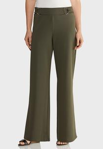 Petite Stretch Wide Leg Trouser Pants