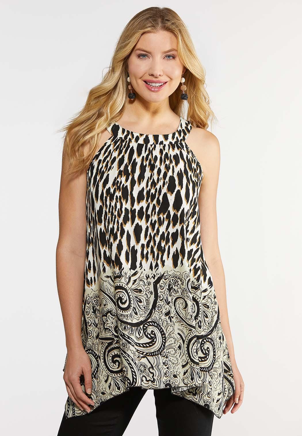 69626c40950eca Plus Size Cleo Animal Paisley Tank Shirts & Blouses Cato Fashions