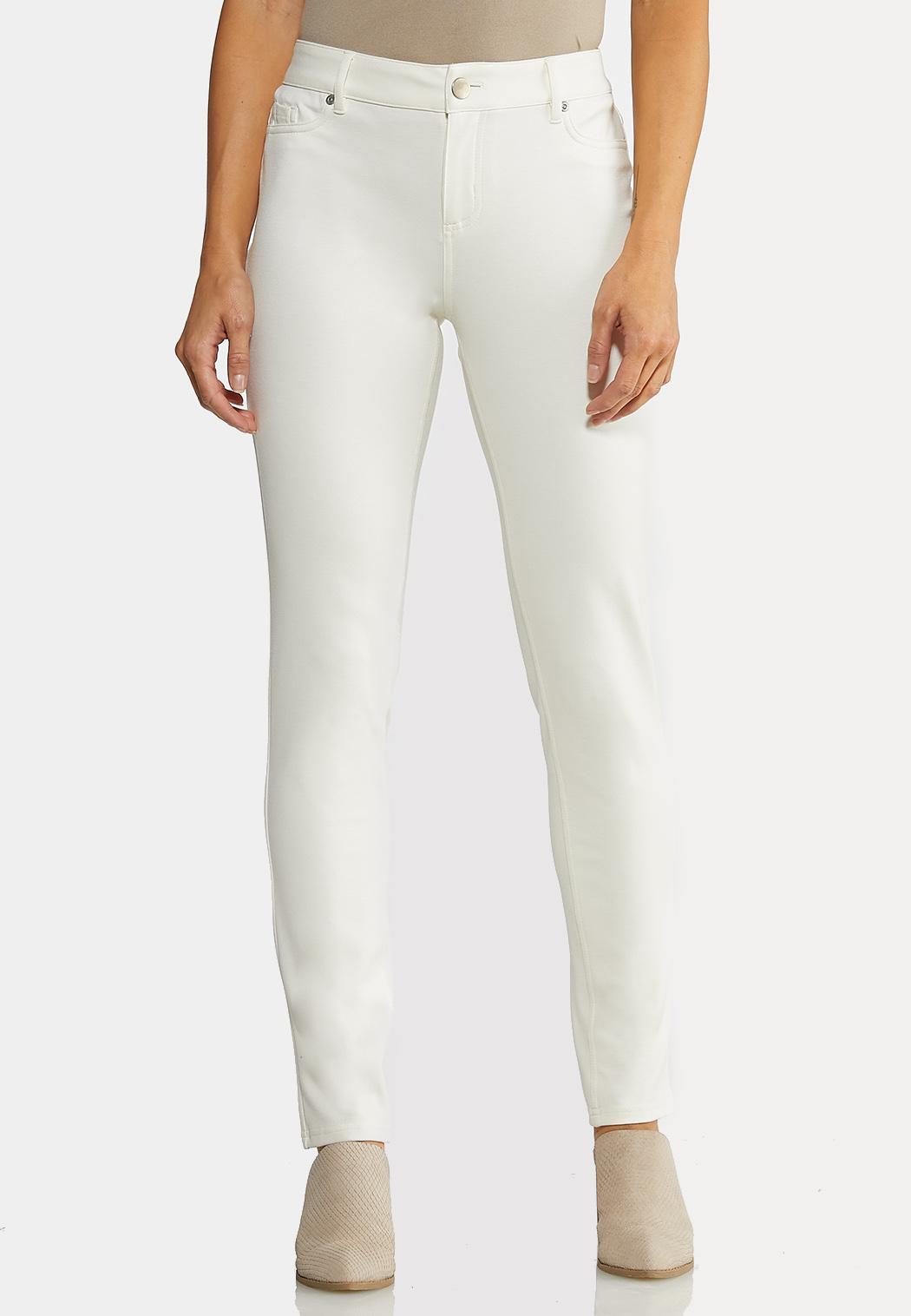 Skinny Leg Ponte Pants