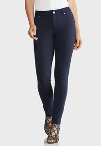 Petite Skinny Leg Ponte Pants