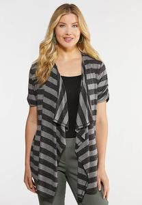 Stripe Tie Back Cardigan