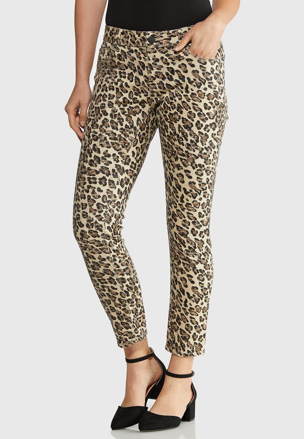 Cheetah Denim Pants