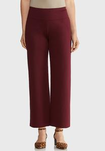 Wide Leg Cropped Ponte Pants